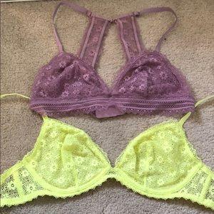 Victoria's Secret bralettes
